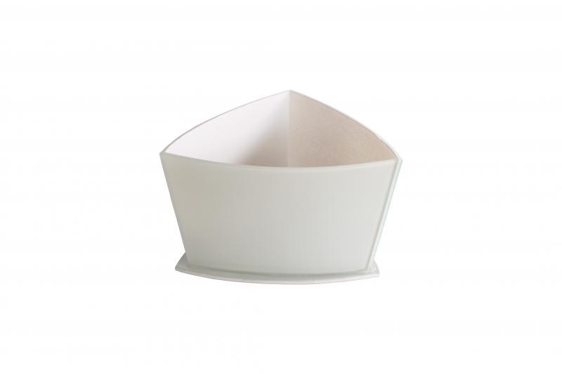 Vaso Triangular Curvo Branco