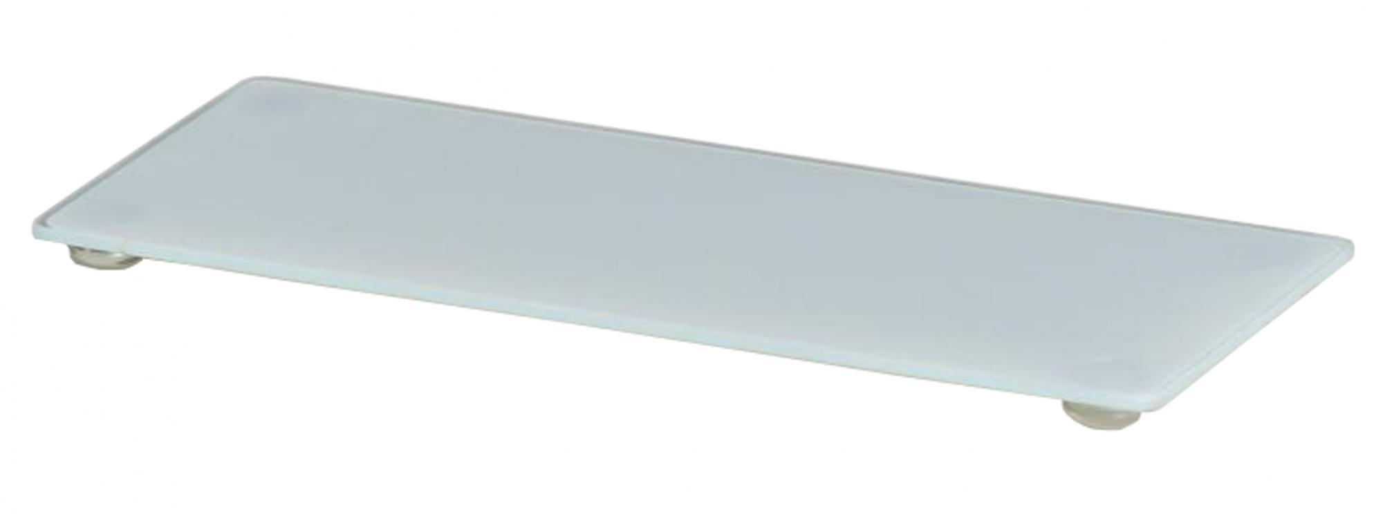 Bandeja de Vidro Retangular - Branca