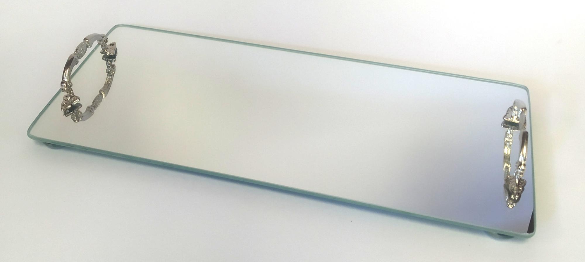 Base com Alça Metálica Espelhada M
