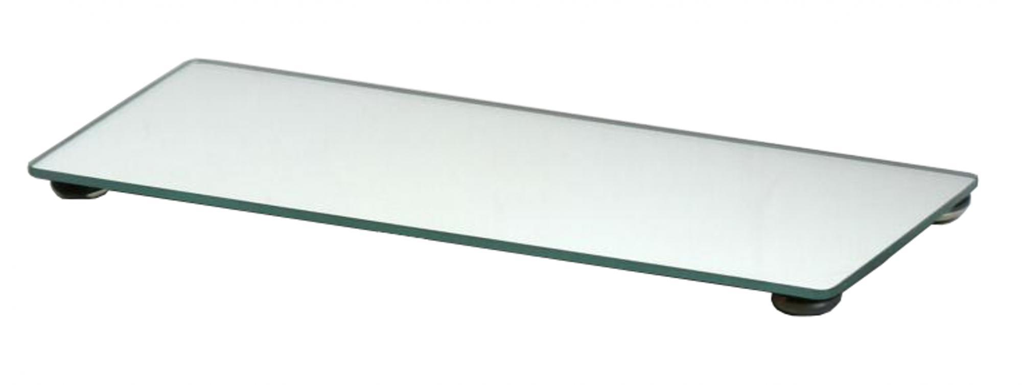 Bandeja de Vidro Retangular - Espelho