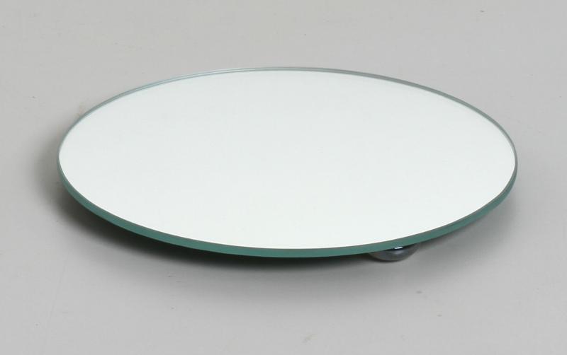 Bandeja de Vidro Redonda Pequena Espelho