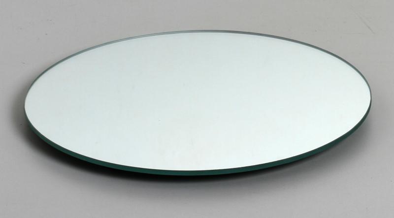 Bandeja de Vidro Redonda Grande Espelho