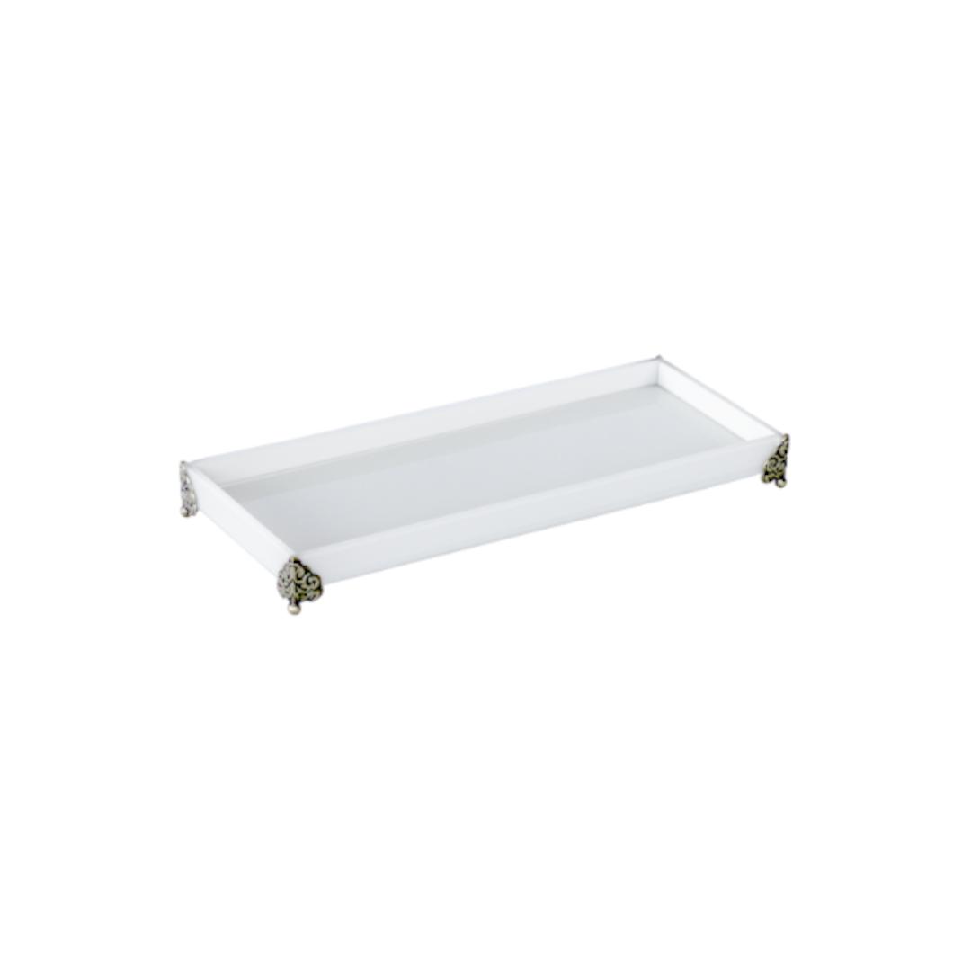 Caixa de Lavabo Peq. C/ Metal Branca