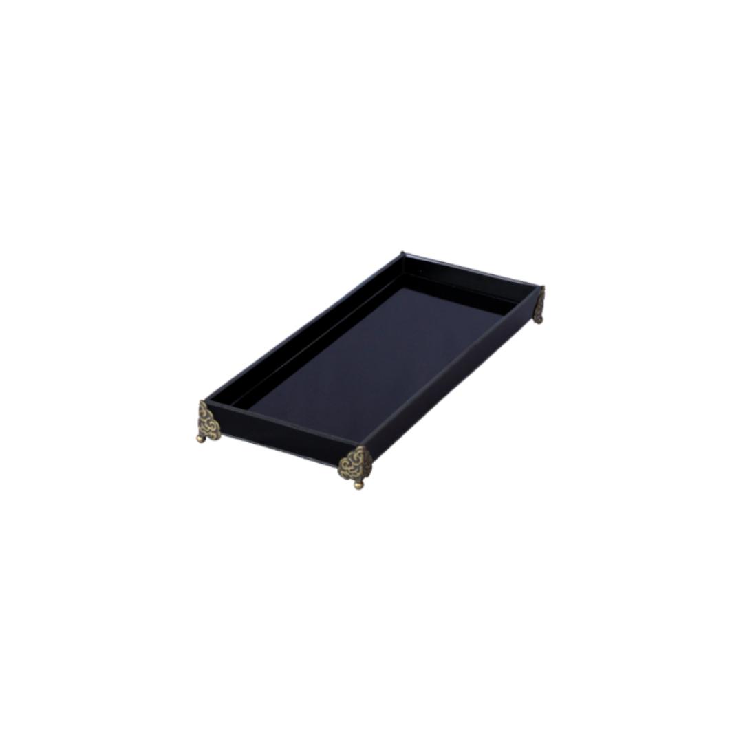 Caixa de Lavabo Peq. C/ Metal Preta