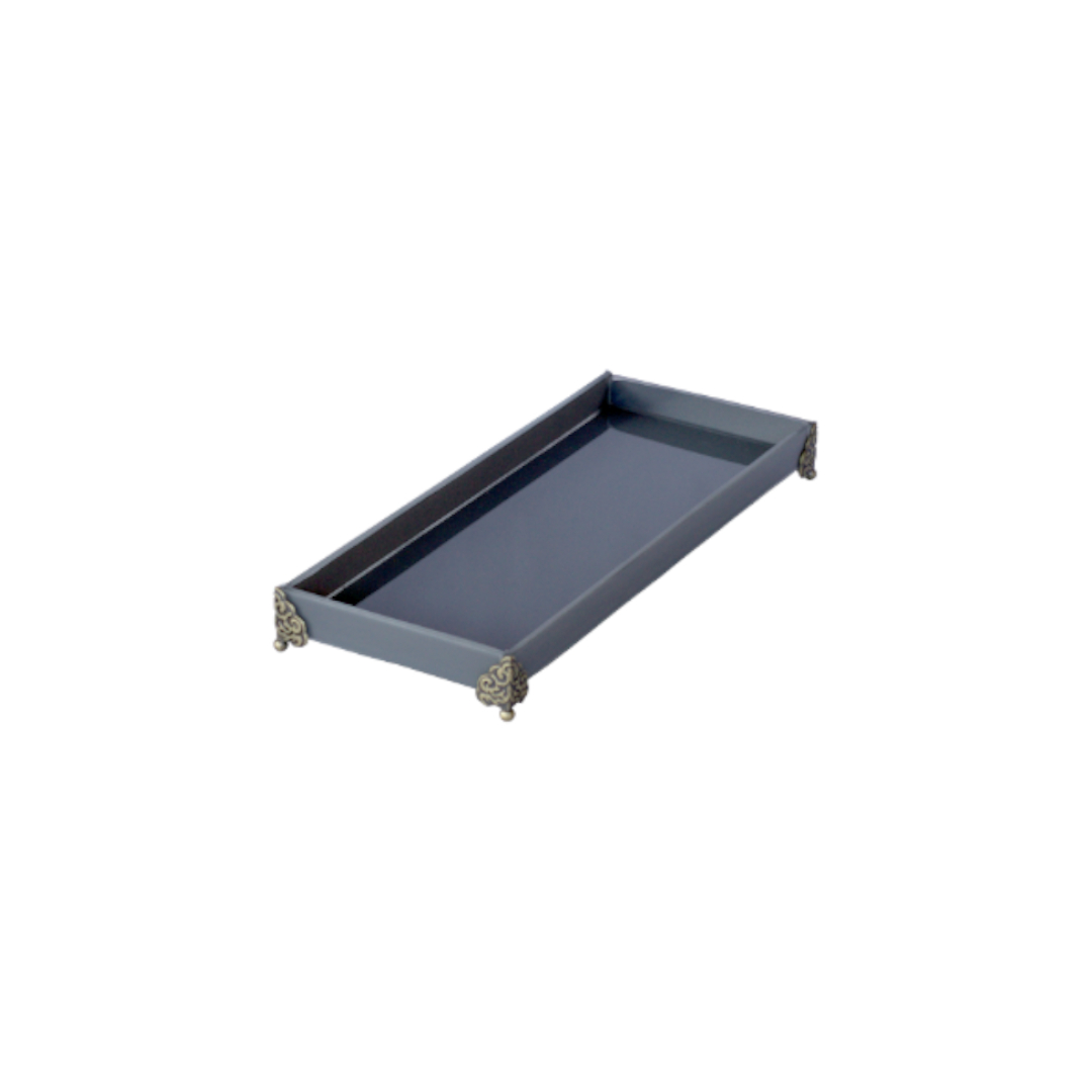 Caixa de Lavabo Peq. C/ Metal Cinza