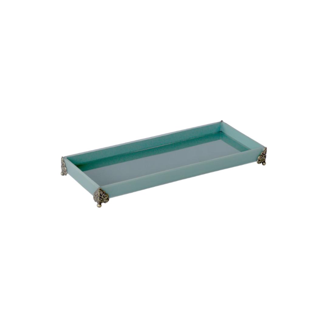 Caixa de Lavabo Peq. C/ Metal Tifany