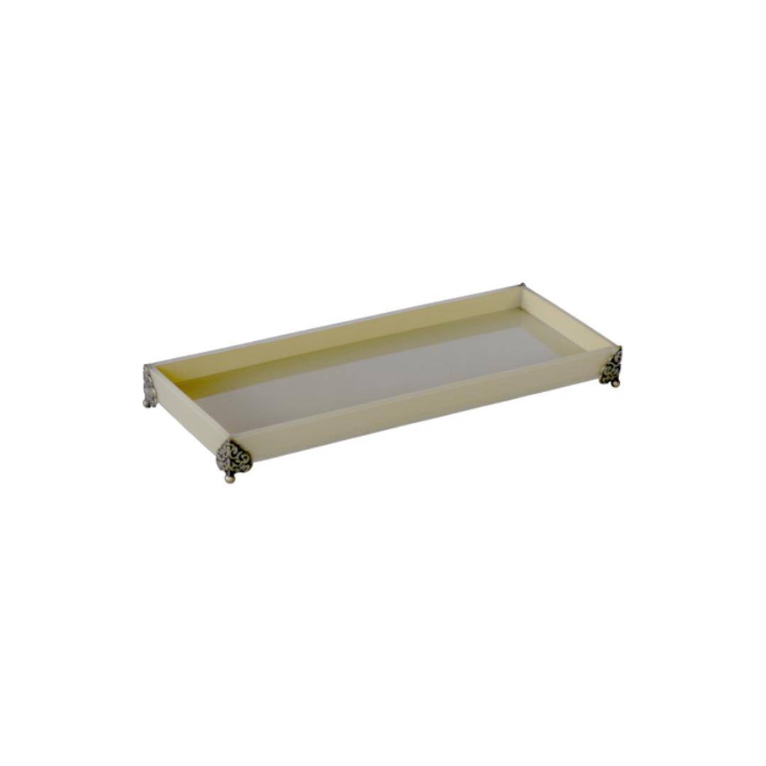 Caixa de Lavabo Peq. C/ Metal Palha