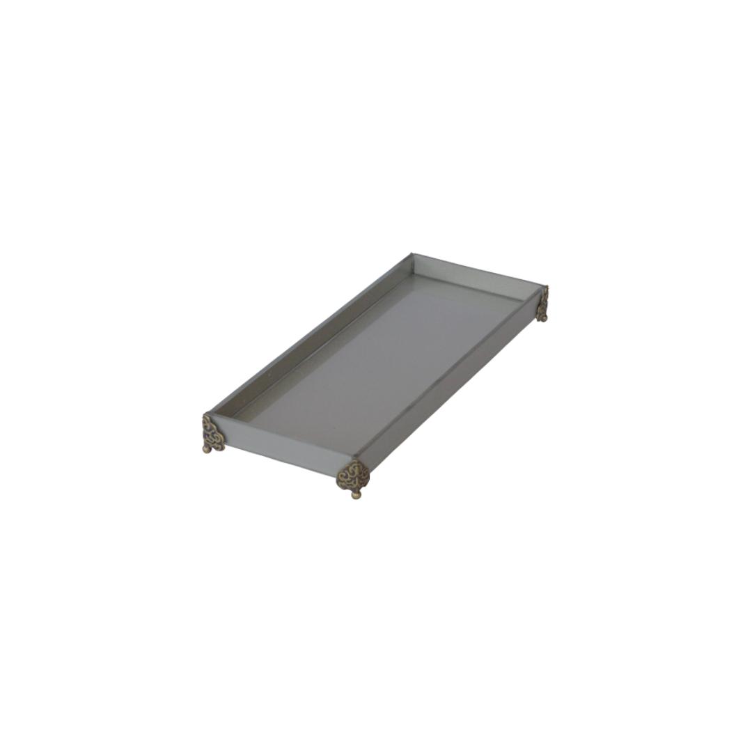 Caixa de Lavabo Peq. C/ Metal Prata