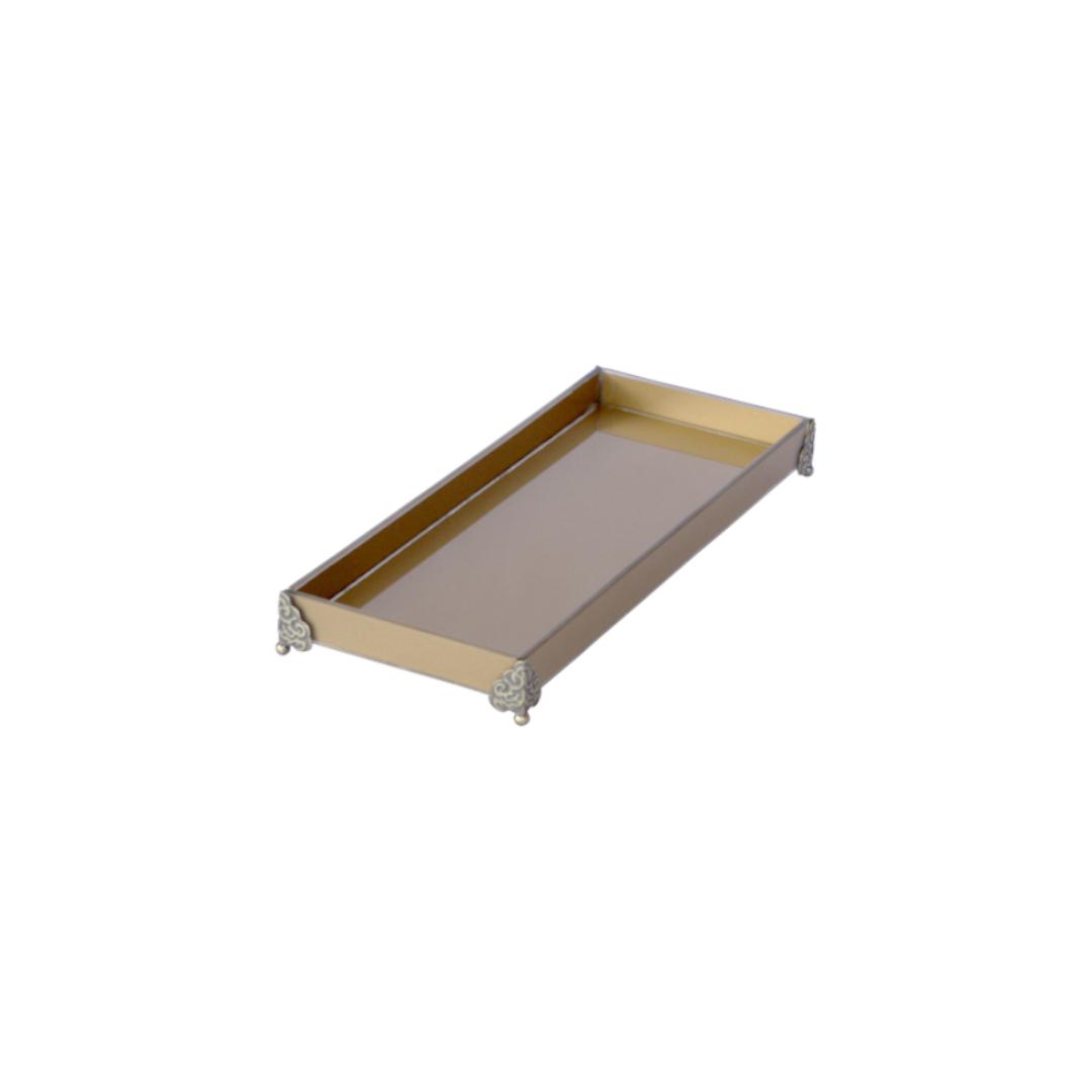 Caixa de Lavabo Peq. C/ Metal Ouro