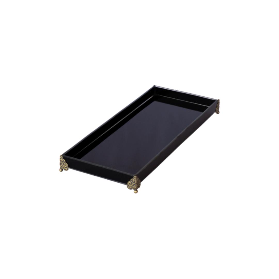 Caixa de Lavabo Grande C/ Metal Preta
