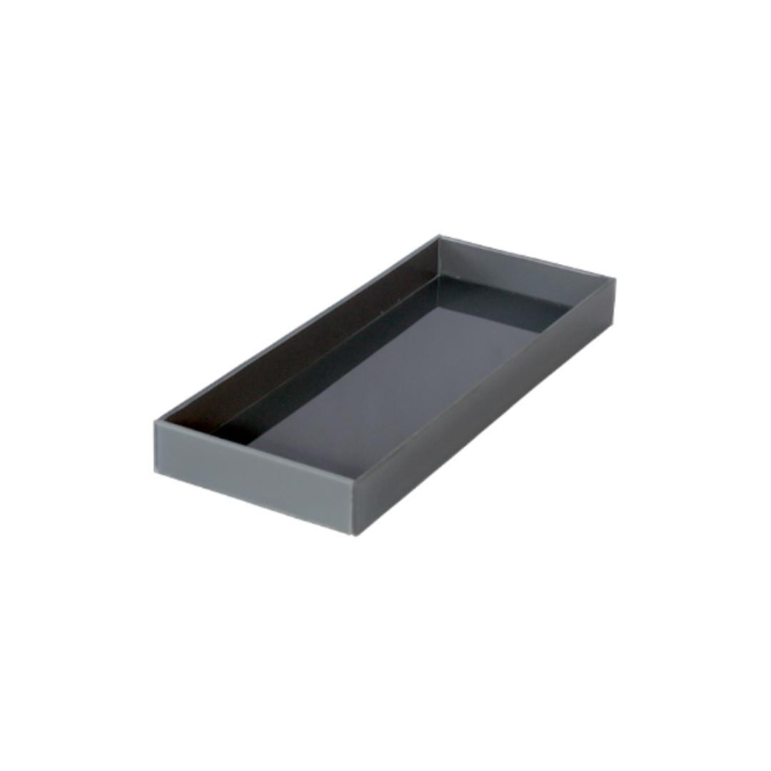 Caixa de Lavabo Grande Cinza