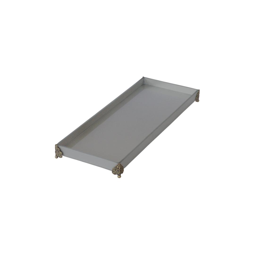 Caixa de Lavabo Grande C/ Metal Prata