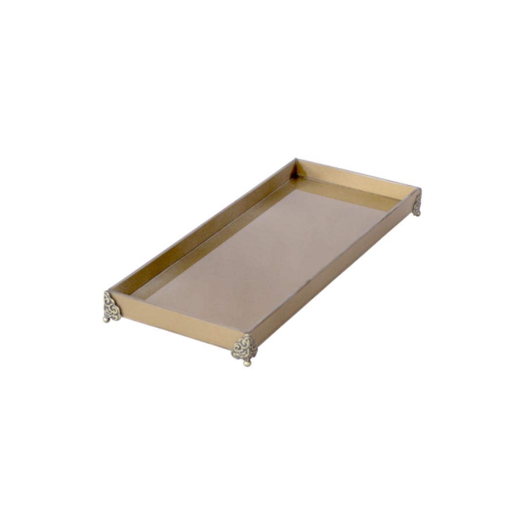 Caixa de Lavabo Grande C/ Metal Ouro